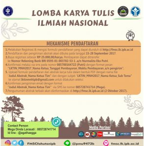 21 294x300 Lomba Karya Tulis Ilmiah Nasional Forest Management Student's Club