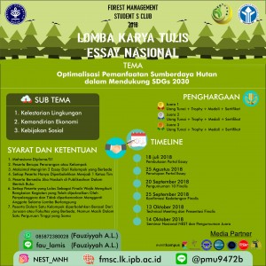 Poster Essay 2 300x300 LOMBA ESAI NASIONAL NEST (National Environomic and Social Talk)